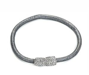 Grey-Leather-Magnetic-Bracelet