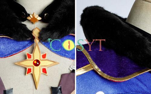 Genshin Impact Mona Cosplay Costume Mona Megistus Astrologer Full Set with Hat