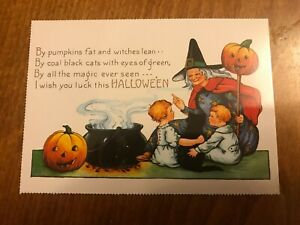 Retro-Halloween-Themed-Postcard-41-NEW-Pagan-Wicca-Gothic