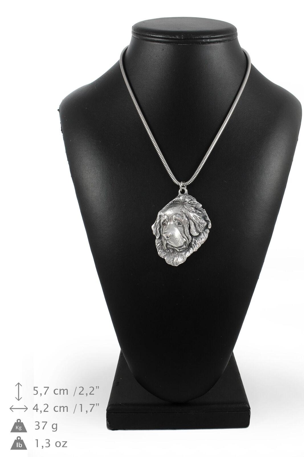 Tibetan Mastiff - silver plaqué collier sur une cordon en silver Art Dog FR