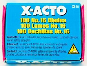 X-ACTO No.16 Sharp Scoring Blades 100 Pack X616 #16 Original XACTO