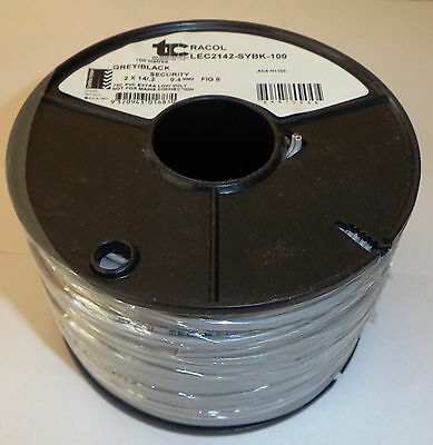 50m  LIGHT DUTY  SPEAKER or SECURITY  WIRE ( GRAY & BLACK )  FIG 8 (14x0.2mm)