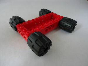 PART 30643 RED TECHNIC VEHICLE BASE ALSO BLACK HARD PASTIC WHEELS