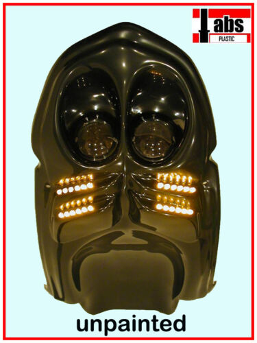 PLASTIC SUZUKI 00-03 GSXR UNDERTAIL NEW 2 ROWS OF LEDS UNPAINTED FLAT BLACK