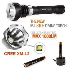 Scuba Dive Light Diving Flashlight Torch Magicshine MJ810E LED 1000Lm 100m 330ft