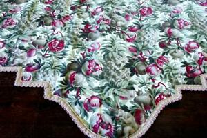 FANTAST-ANTIQUE-FRENCH-COLORED-DOUBLE-SIDED-COTTON-PELMET-A-SQUIRRELS-MEAL94x27