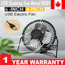 """6/"""" Quiet USB Fan Smooth Blades Metal Body For Home,Office Travel,Camping,Outdoor"""