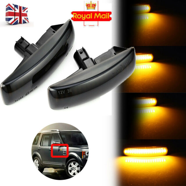Crystal Clear side repeater flasher indicator lamps for Land Rover Freelander 2