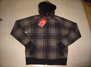 211547669 Details about The North Face Mens Klamath Plaid Hoodie Jacket Bipartisan  Brown Sz M - NWT $120