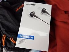 Bose SoundSport in-ear headphones - New and Sealed - Charcoal - Audio Only