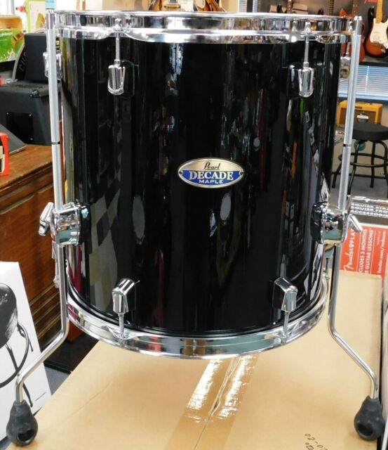 Pearl Session Studio Classic Floor Tom 14x14 Piano Black For Sale