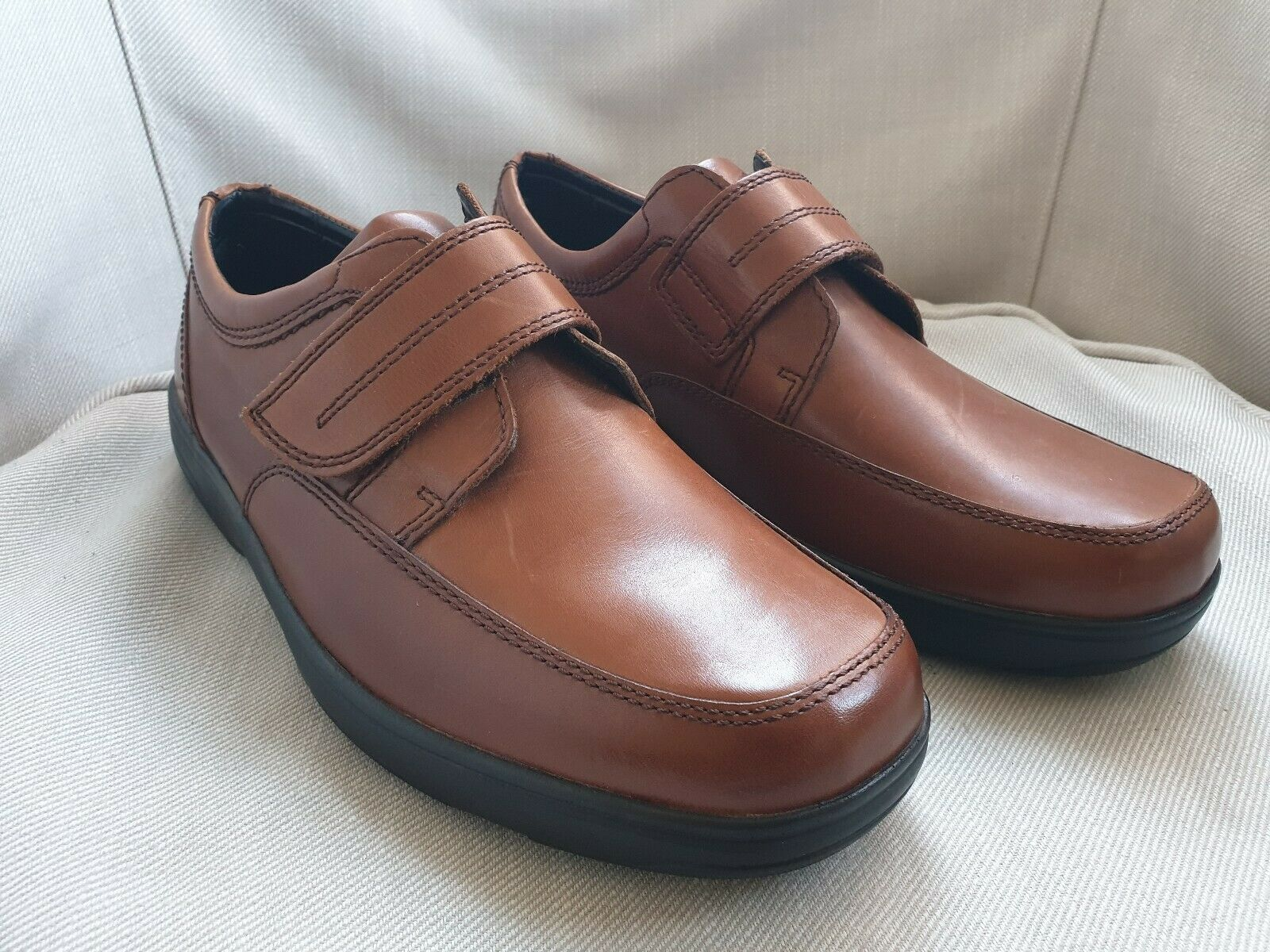 Marks  and Spencer Mens AIRFLEX Tan Brown Leather shoes New