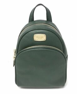 c80a91277ea8 Michael Kors Abbey XS Leather Backpack Crossbody Bag Moss DKGREEN 38f7xayb1l
