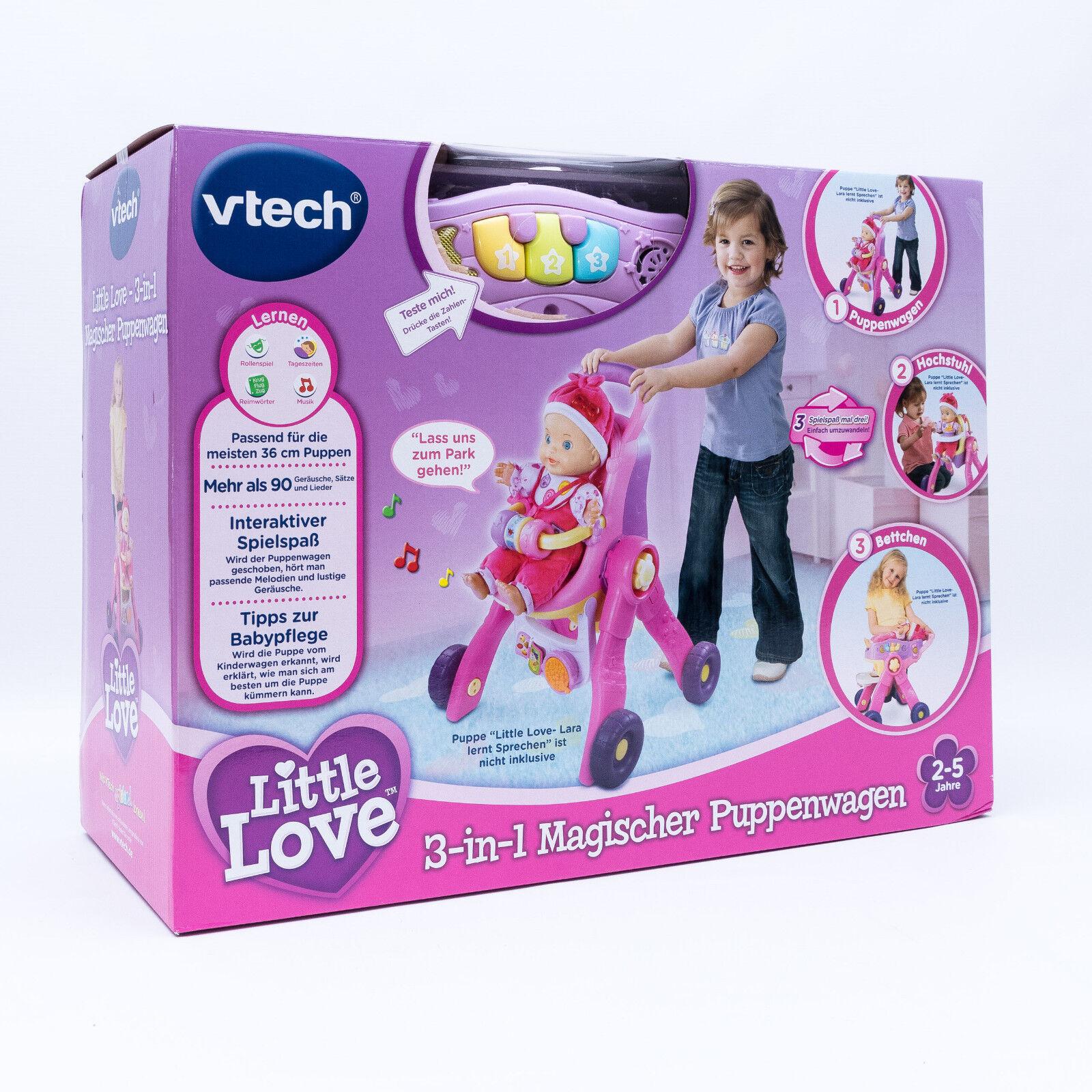 Vtech 154104 - Little Love 3-in-1 magischer Puppenwagen mit Sound NEU/OVP