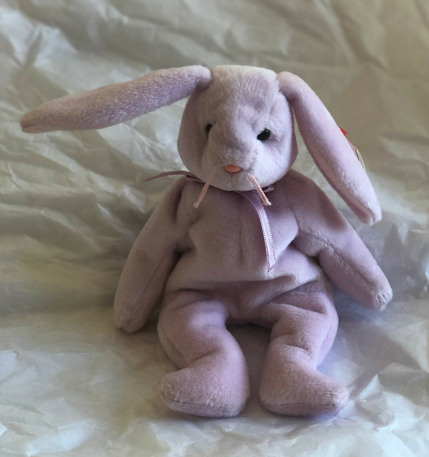 TY Beanie Babies Floppity The Purple Rabbit 1996 Retired w Tags 4th Generation