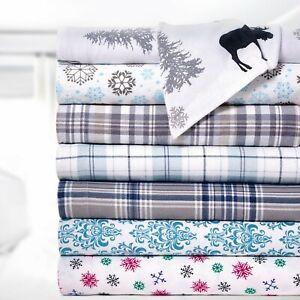 Bibb-Home-100-Cotton-Printed-Flannel-Sheet-Set-Cozy-Soft-Deep-Pocket-Sheets