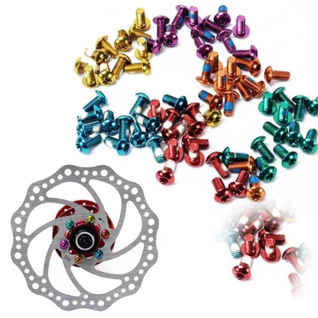 12Pcs MTB Bike Bicycle Disc Brake Rotor Torx T25 Bolts M5 x 10mm Screw Nut NEW