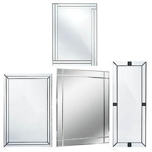 Large Bevelled Wall Rectangle Full Length Mirror Bedroom Bathroom Furniture Ebay