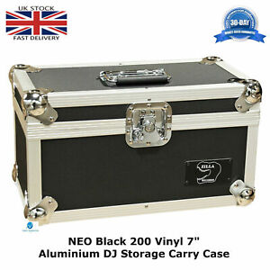 1-NEO-Black-Storage-DJ-Flight-Carry-Case-for-200-Singles-45-rpm-vinyl-7-034-Records