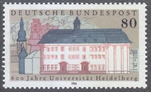 Germany-1986-MNH-Mi-1280-Sc-1472-Heidelberg-University