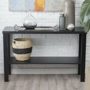Fantastic Details About Black Sofa Table Home Hallway Behind Couch Entryway Foyer Skinny Narrow Console Machost Co Dining Chair Design Ideas Machostcouk