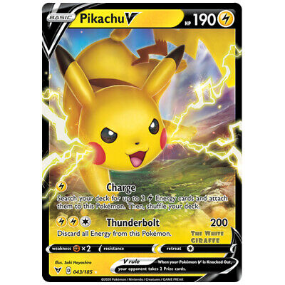 Pokemon Pikachu V Half Art Ultra Rare 043//185 Vivid Voltage