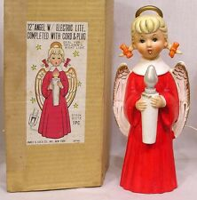 "Vintage Christmas 12"" Angel Light Cole Co. in OB Night Light Too 1960s"