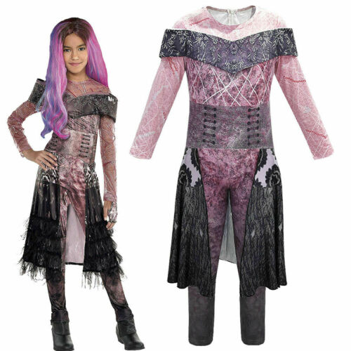 Descendants 3 Audrey Mal Kid Girls Festival Cosplay Costume Fancy Dress Up Party