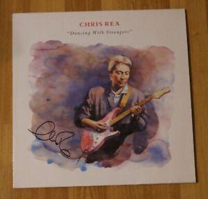ORIGINAL-Autogramm-von-Chris-Rea-Auf-VINYL-12-034-034-DANCING-WITH-STRANGER-034