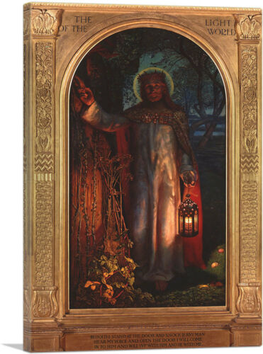 ARTCANVAS The Light Of The World 1851 Canvas Art Print by William Holman Hunt