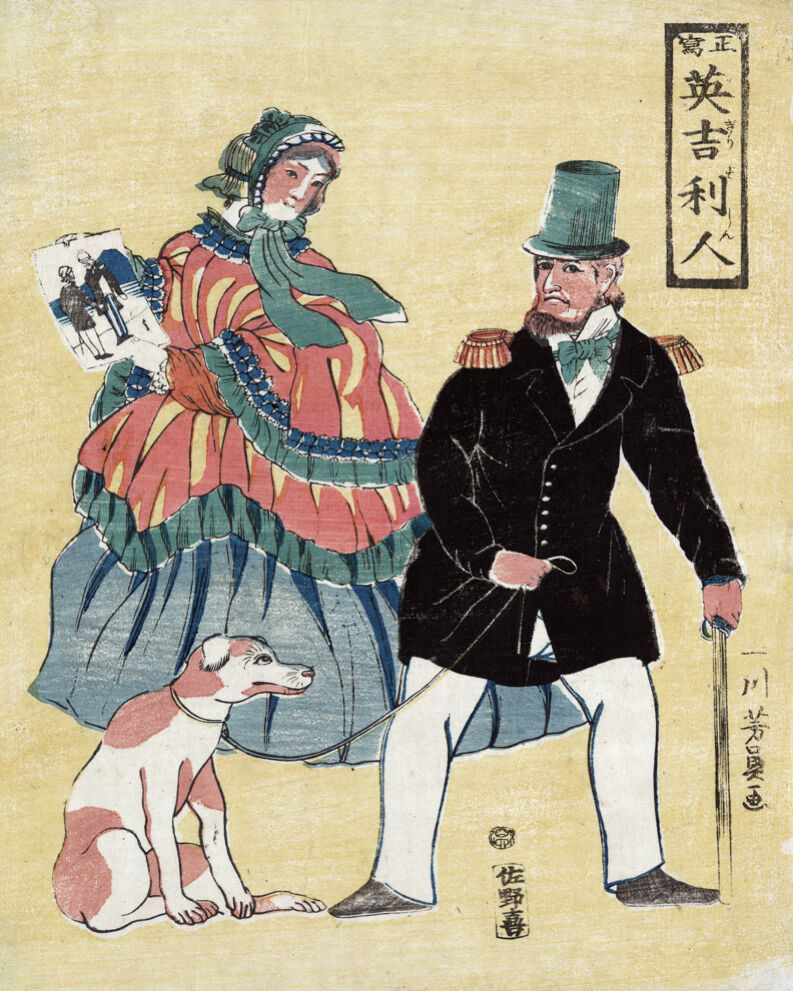 1528 .Lady holding a painting. Asian quality POSTER. Decorative Art.Japanese