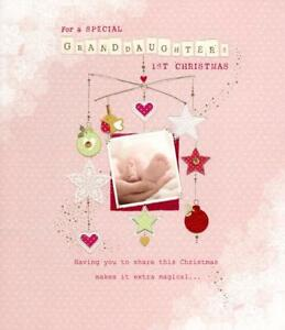 Granddaughter S 1st Christmas Greeting Card Baby S First Xmas Cards
