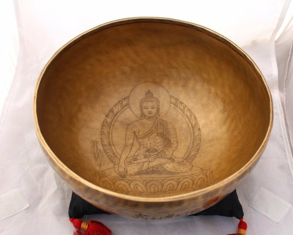 Shakyamuni Buddha Carved Singing Bowls