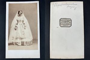 Vimard, Paris, Caroline Duprez (Vandenheuvel), soprano Vintage cdv albumen print
