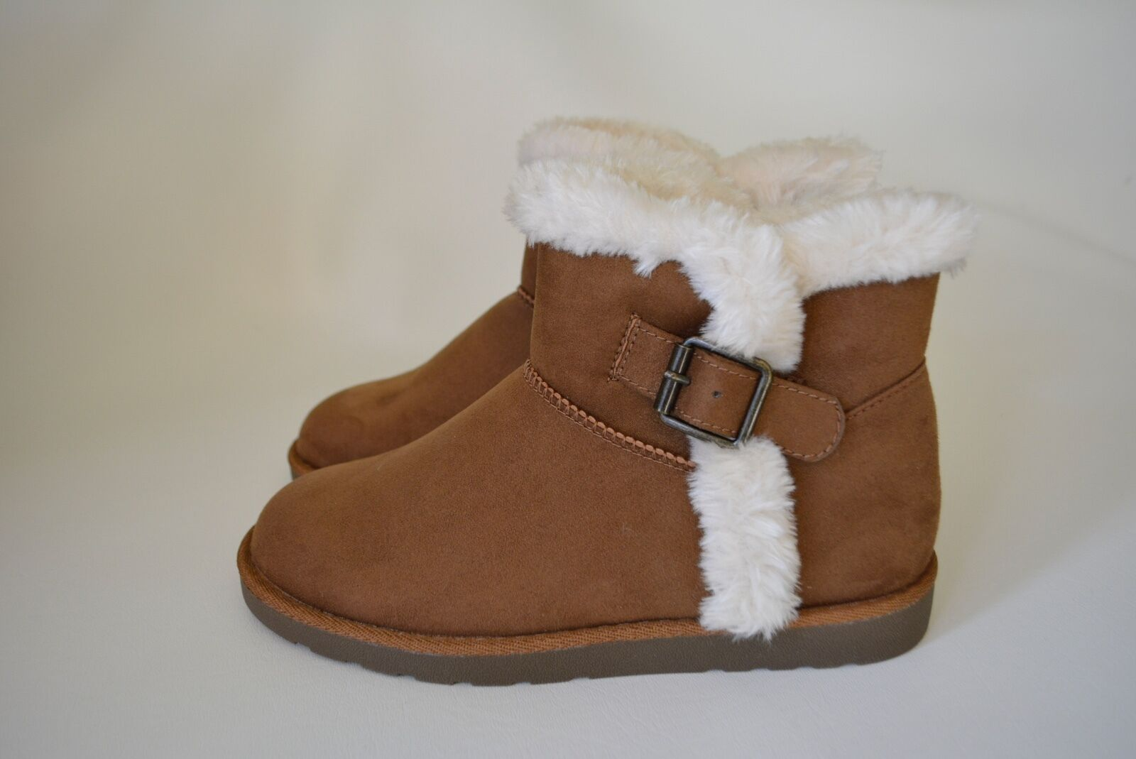New SO Authentic American Heritage Women's Size 6 Chestnut Fur Trim Ankle Boots