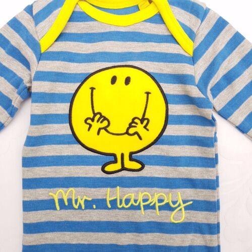 Hide /& Seek Mr Men Footless Romper Body Suit Mr Perfect /& Happy Sz 3 6 9 months