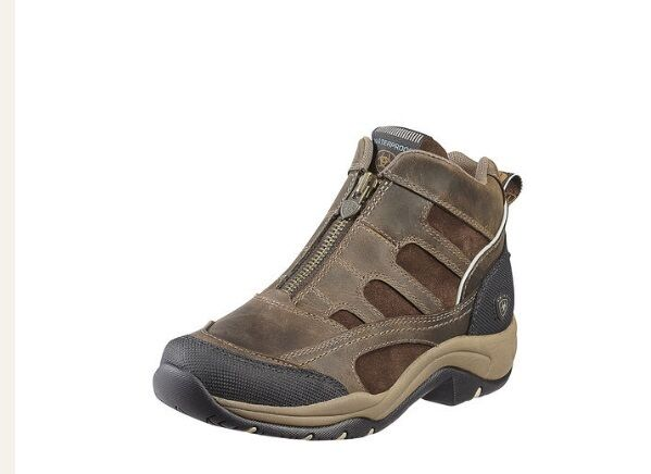 Ariat Terrain H2O Zip Boot Brown - Waterproof  - ATS Sole Footbed - Riding sole  exclusive designs