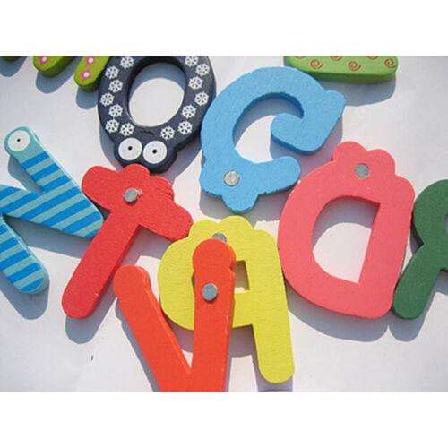 26pcs Letters Baby Toys Kids Wooden Alphabet Fridge Magnet Child Educational Toy