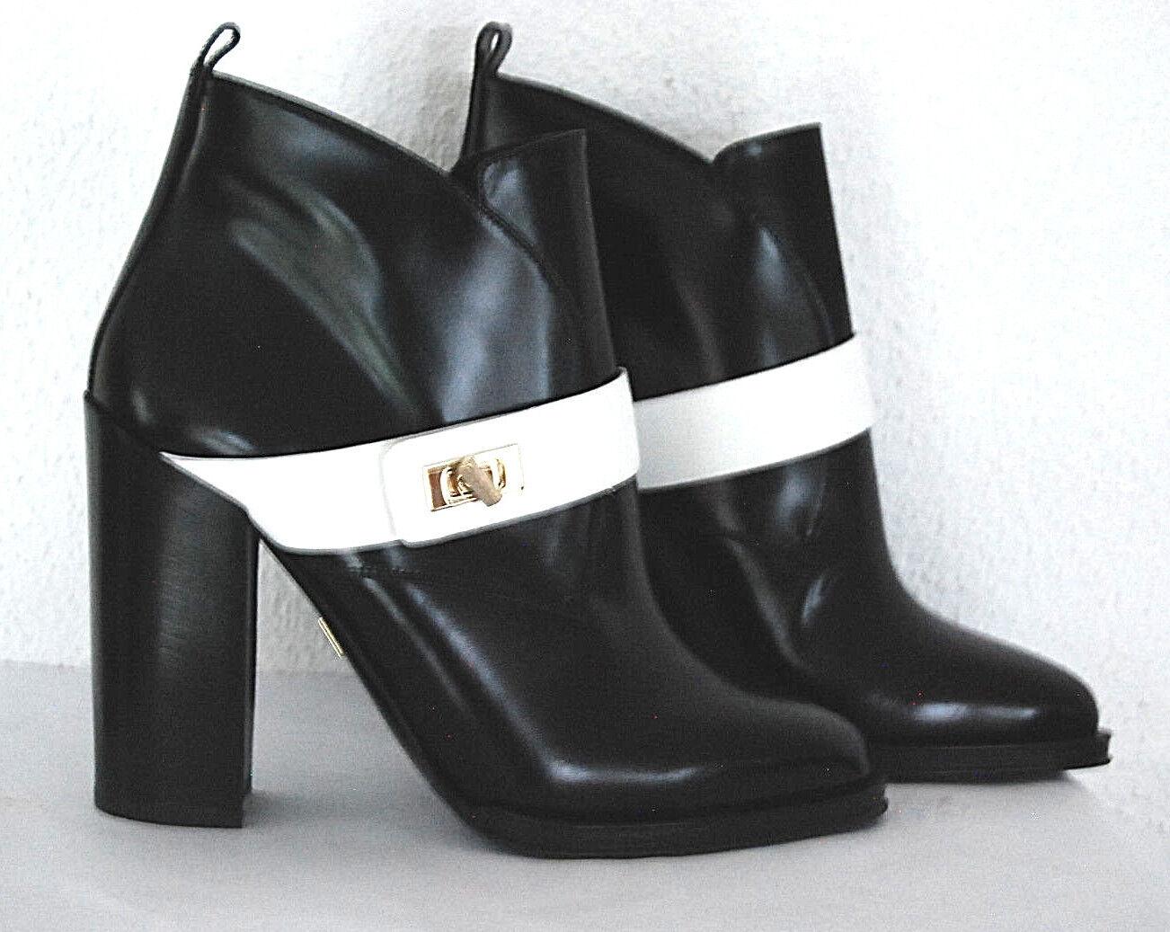 HUGO BOSS Stiefeletten Gr.40 Neu    schwarz Leder Stiefel Blend Schuhe 777350
