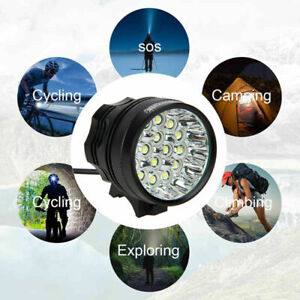 60000Lm 16x XM-L T6 LED 3 Mode Bicycle Light Bike Front Lamp Torch Headlight
