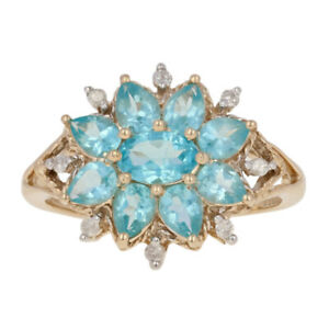 1-58ctw-Oval-Cut-Apatite-amp-Diamond-Ring-10k-Yellow-Gold-Floral-Halo