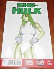 SHE-HULK  # 1 NM (2014 MARVEL) ORIGINAL SKETCH ART BY HM1.