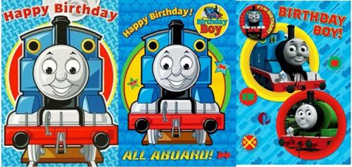 """Official Licensed Small /""""THOMAS THE TANK/"""" Birthday Cards"""