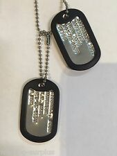 MILITARY DOG TAG HALLOWEEN COSTUME PROP MAVERICK TOP GUN NECKLACE NAVY PILOT