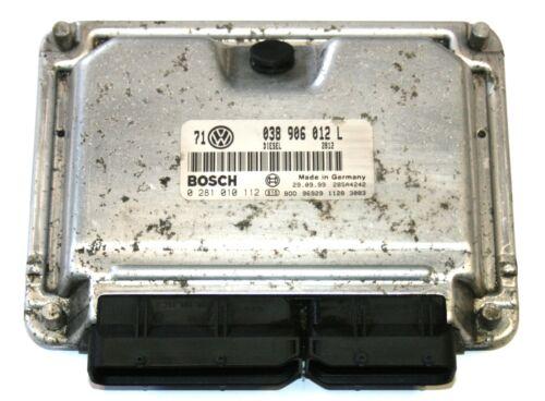 VW Bora AHF 1.9 TDI Engine Control Unit ECU 038 906 012 L