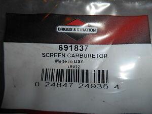 NOS Briggs and Stratton OEM Screen Carburetor 691837