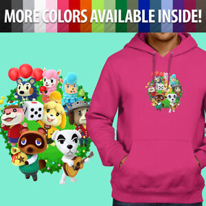 Animal-Crossing-Isabelle-K-K-Slider-Group-Pullover-Sweatshirt-Hoodie-Sweater