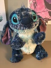 "Disney Store Stitch Lilo & Stitch Alien Dark Blue Fuzzy 10"" Plush  VHTF EUC"