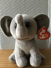 Ty Beanie Baby ~ SAHARA the Grey Ears Elephant ~ MINT with MINT TAGS ~ RETIRED