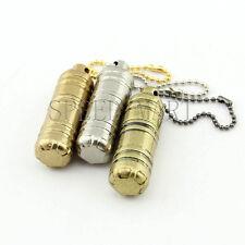 EDC Cool Gear Fire Flint Wick Kerosene Pipe Cigarette Lighter Keychain Camping